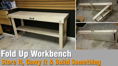 DIY Fold up workbench (How to build)