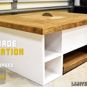 Homemade Table Saw 4 in 1 Modular Workstation