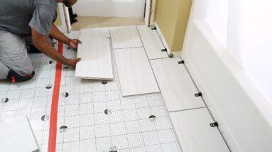 "How To Install QuicTile ""EASY DIY Porcelain Tiles""  | DIY CREATORS"