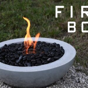 How To Make a Concrete Fire Bowl | Gel Fuel