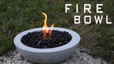 How To Make a Concrete Fire Bowl | Gel Fuel