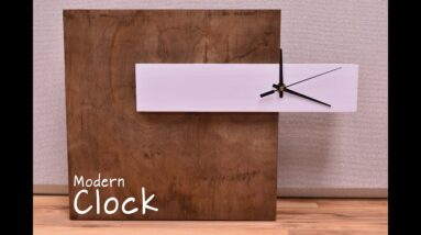 How To Make A Modern Clock | DIY Build