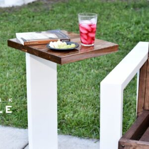 Modern Drink Table Indoor- Outdoor  | DIY Build