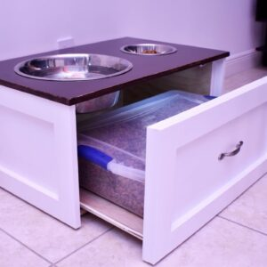 Raised Dog Feeding Station | DIY Build (Plans Available)