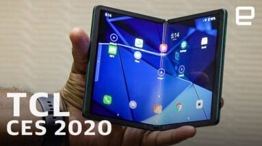 TCL foldable concept and 10 Series first look at CES 2020