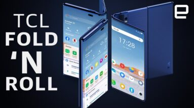 TCL's Fold 'N Roll smartphone concept transforms between 3 sizes
