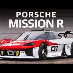 Porsche Mission R electric concept race car first Look