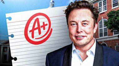 How Good Was Elon Musk In School?